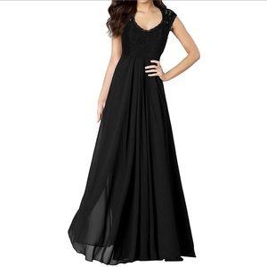Black Maci Dress Bridesmaid Evening Gown Size XL